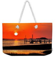 Sunrise - Bogue Sound Weekender Tote Bag