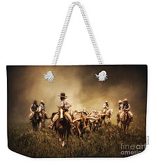 Sunrise Cattle Drive Weekender Tote Bag by Priscilla Burgers