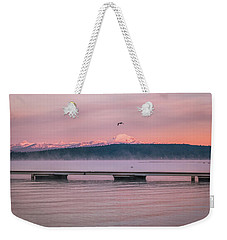 Weekender Tote Bag featuring the photograph Sunrise Fog by Jan Davies