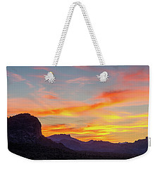 Sunrise From Hieroglyphic Trail Weekender Tote Bag