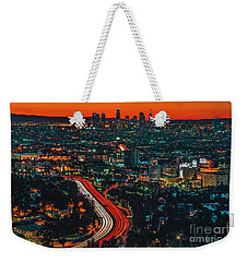Sunrise In Hollywood Weekender Tote Bag by Art K