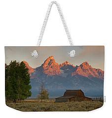 Sunrise In Jackson Hole Weekender Tote Bag by Steve Stuller