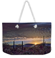 Weekender Tote Bag featuring the photograph Sunrise In Sabino Canyon Remix by Dan McManus