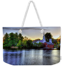 Weekender Tote Bag featuring the photograph Sunrise In The Country - Harrisville Nh by Joann Vitali