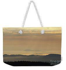 Sunrise In The Mountains - Hills In Morning Mist Weekender Tote Bag by Michal Boubin
