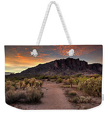Sunrise In The Superstitions Weekender Tote Bag