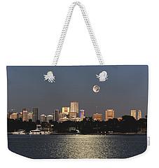 Moonrise Over Miami Weekender Tote Bag