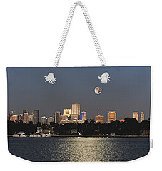 Sunrise Moon Over Miami Weekender Tote Bag