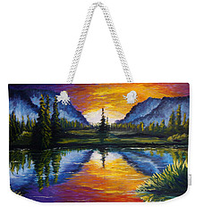 Sunrise Of Nord Weekender Tote Bag