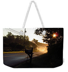 Sunrise On A Country Road Weekender Tote Bag