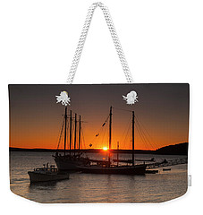 Sunrise On Bar Harbor Weekender Tote Bag