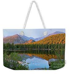 Sunrise On Bear Lake Rocky Mtns Weekender Tote Bag by Teri Brown