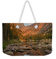 Sunrise On Dream Lake Weekender Tote Bag