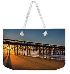 Weekender Tote Bag featuring the photograph Sunrise On Folly Island by Rikk Flohr