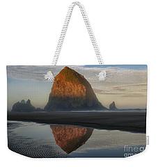 Sunrise On Haystack Rock - Oregon Weekender Tote Bag