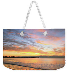 Weekender Tote Bag featuring the photograph Sunrise On Middletown Rhode Island by Roupen  Baker