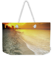 Weekender Tote Bag featuring the photograph Sunrise On Orange Beach by Greg Mimbs