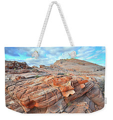 Sunrise On Sandstone In Valley Of Fire Weekender Tote Bag by Ray Mathis