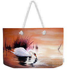 Sunrise On Swan Lake Weekender Tote Bag