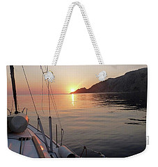 Weekender Tote Bag featuring the photograph Sunrise On The Aegean by Christin Brodie