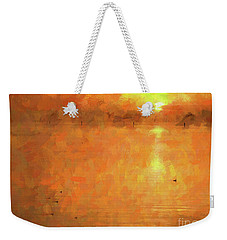 Sunrise On The Bay Weekender Tote Bag by Scott Cameron