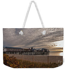 Sunrise On The Empty Beach Weekender Tote Bag by David Bishop