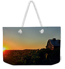 Weekender Tote Bag featuring the photograph Sunrise On The Farm by Chris Berry