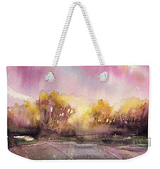 Sunrise On The Lane Weekender Tote Bag by Judith Levins