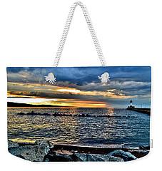 Sunrise On The Rocks Weekender Tote Bag