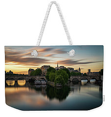 Sunrise On The Seine Weekender Tote Bag
