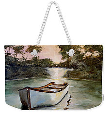 Sunrise On The Shallows Weekender Tote Bag by Alan Lakin