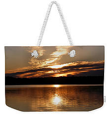 Sunrise On The Turtle Flambeau Flowage Weekender Tote Bag