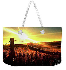 Sunrise On The Wire Weekender Tote Bag