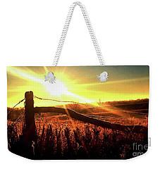 Sunrise On The Wire Weekender Tote Bag by J L Zarek