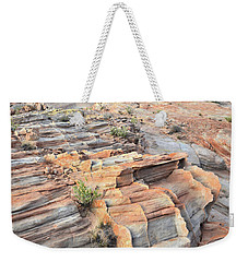 Sunrise On Valley Of Fire Weekender Tote Bag by Ray Mathis