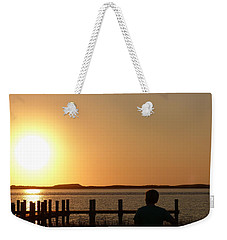 Sunrise Over Assateaque Weekender Tote Bag by Donald C Morgan