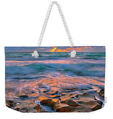 Weekender Tote Bag featuring the photograph Sunrise Over Carlin Park In Jupiter Florida by Justin Kelefas