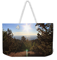Weekender Tote Bag featuring the photograph Sunrise Over Colorado Springs by Christin Brodie