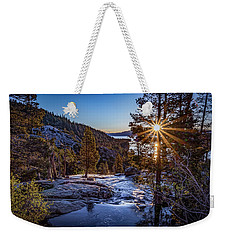 Weekender Tote Bag featuring the photograph Sunrise Over Emerald Bay by Janis Knight