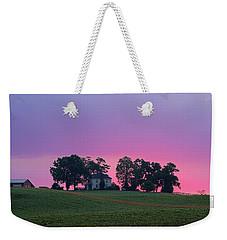 Sunrise Over Farmhouse Weekender Tote Bag