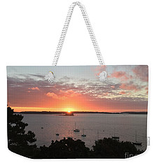 Sunrise Over Fort  Gorges Casco Bay Portland Maine Weekender Tote Bag