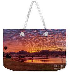 Sunrise Over Gila Mountain Range Weekender Tote Bag by Robert Bales