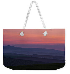 Weekender Tote Bag featuring the photograph Sunrise Over Hills Of Moravian Tuscany by Jenny Rainbow