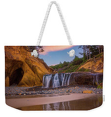 Weekender Tote Bag featuring the photograph Sunrise Over Hug Point by Darren White