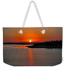 Weekender Tote Bag featuring the photograph Sunrise Over Lake Ray Hubbard by Diana Mary Sharpton