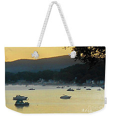 Sunrise Over Malletts Bay Panorama - Nine V2 Detail Weekender Tote Bag
