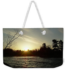 Weekender Tote Bag featuring the photograph Sunrise Over Mississippi River by Kent Lorentzen