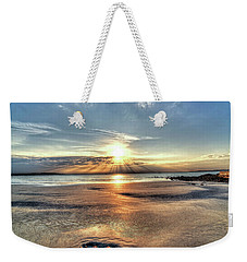 Sunrise Over Red Rock Park Lynn Ma Kings Beach Weekender Tote Bag