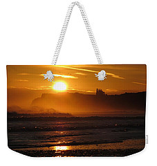 Sunrise Over Sandsend Beach Weekender Tote Bag by RKAB Works