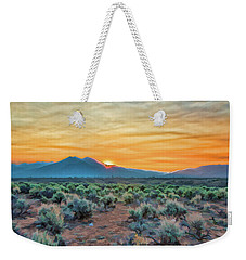 Sunrise Over Taos Weekender Tote Bag